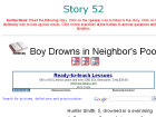 Boy Drowns in Neighbor's Pool