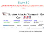 Squirrel Attacks Woman in Golf Cart
